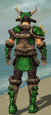 Warrior Elite Charr Hide Armor M dyed back