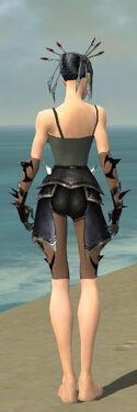 Necromancer Obsidian Armor F gray arms legs back