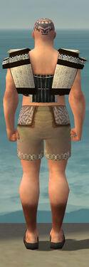 Monk Elite Sunspear Armor M gray chest feet back