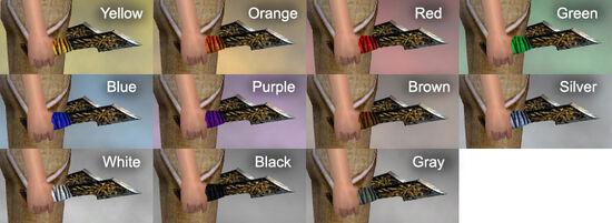 Gilded Daggers Dye Chart