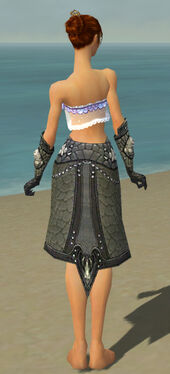 Elementalist Elite Stoneforged Armor F gray arms legs back