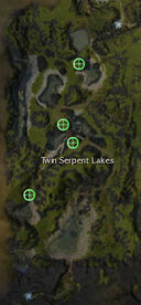 Twin Serpent Lakes boss spawn points