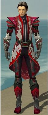 Elementalist Elite Flameforged Armor M dyed front