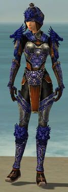 Warrior Elite Canthan Armor F dyed front