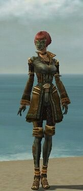 Mesmer Ancient Armor F gray front