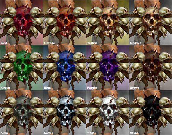 Outcast Shield dye chart