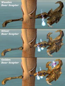Boar Scepters comparison