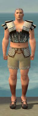 Monk Elite Sunspear Armor M gray chest feet front