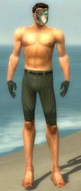 Mesmer Elite Luxon Armor M gray arms legs front