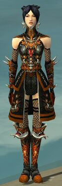 Necromancer Canthan Armor F dyed front