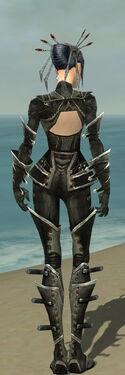 Necromancer Kurzick Armor F gray back