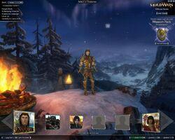 GWEN character selection screen