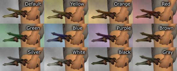 Bronze Daggers dye chart