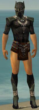 Ritualist Kurzick Armor M gray chest feet front