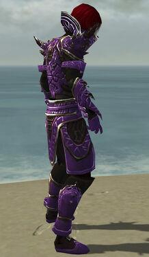 Necromancer Asuran Armor M dyed side