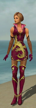 Mesmer Elite Canthan Armor F dyed front