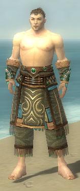 Monk Elite Luxon Armor M gray arms legs front