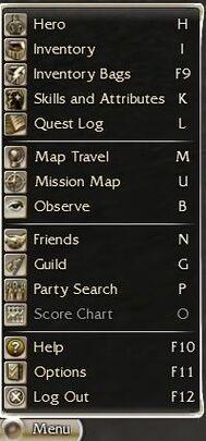 Interface menu
