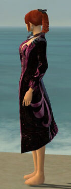 Elegant Long Coat F dyed side