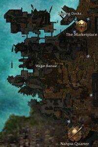 Wajjun Bazaar map