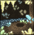 Background crystal cave