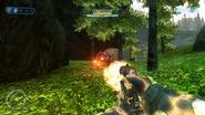 Brute plasma pistol firing