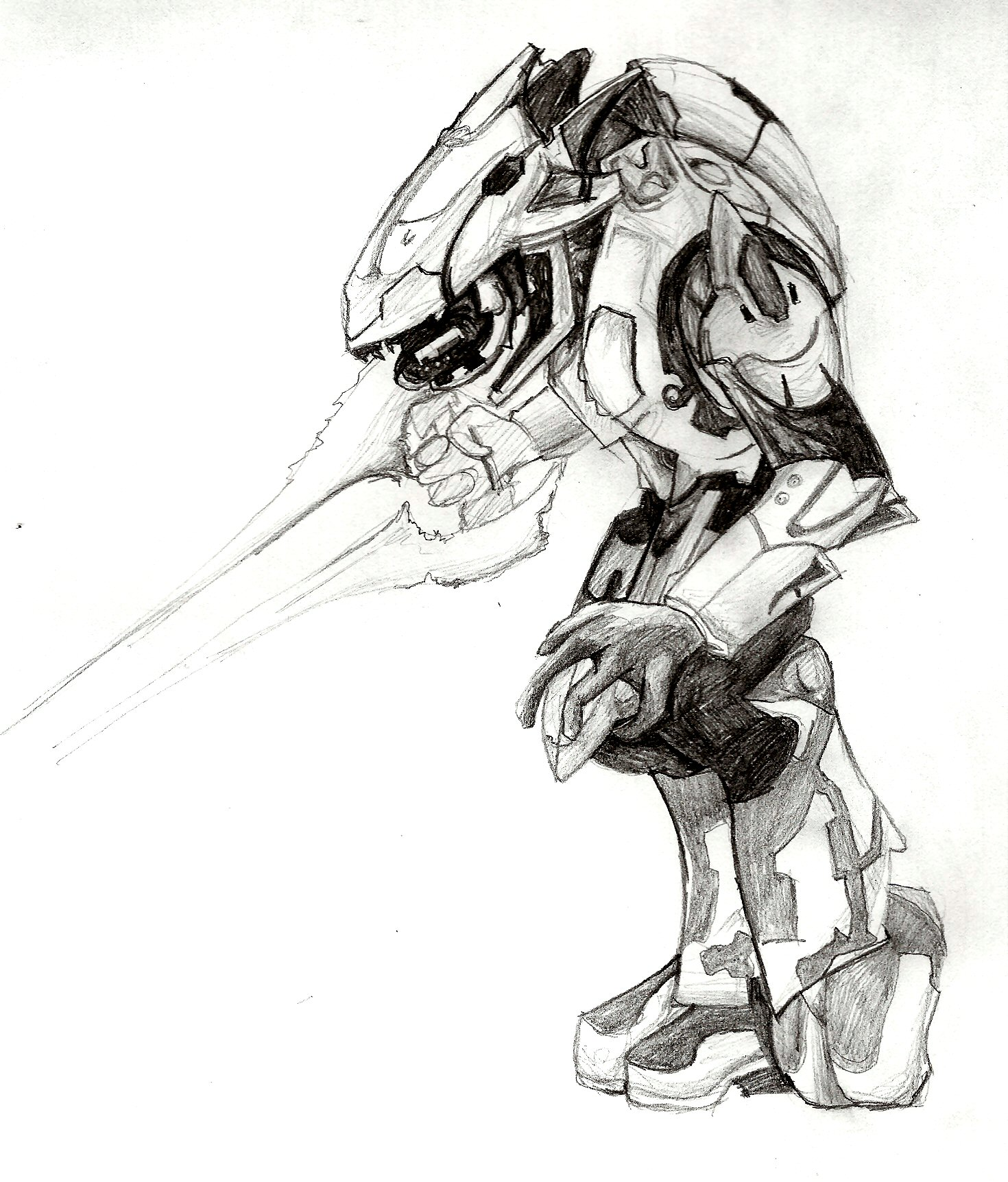 Halo 4 coloring pages - Elite Halo By Smilie5768 1 Jpg