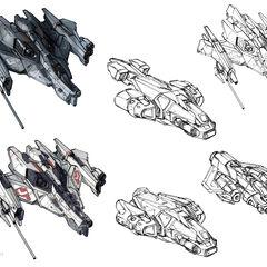 军刀战斗机的几种早期概念性的探索。