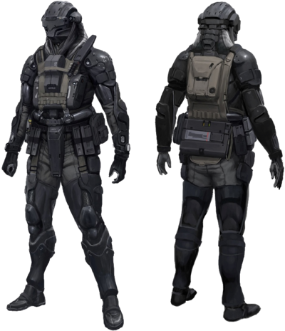 Armed Combat Harness-Extravehicular Reconnaissance (V1 ARCHER)