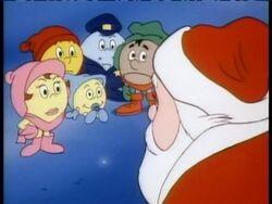 Pac-Man and company meet Santa