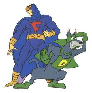 Dynomutt and Blue Falcon