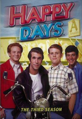 Happy Days Season 3 DVD cover