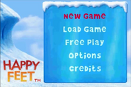 Happy Feet GBA Main Menu