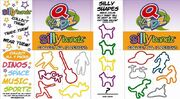 Quiznos Silly Bandz promo sheet