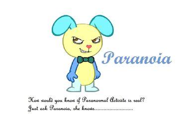 Paranoia the rabbit