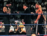 250px-Undertaker, Vince McMahon, Brock Lesnar, & Sable in a WWE ring