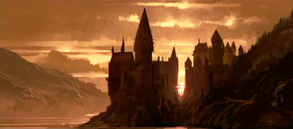 File:Hogwarts castle sunset 01 (Concept Artwork for HP2 movie).JPG