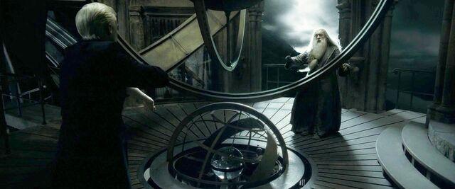 File:Draco disarms Dumbledore.jpg