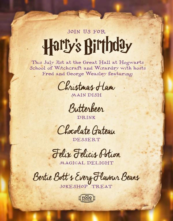User Blog Asnow89 Food Fiction Harry Potter S Birthday