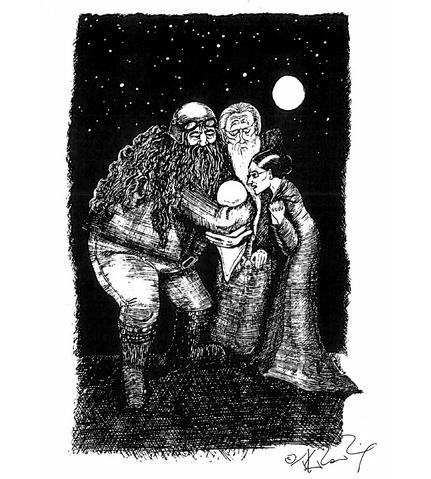 File:JKR outside Privet Drive illustration.png