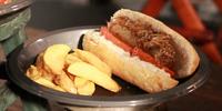 Banger pub style sandwich