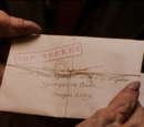 Albus Dumbledore's letter to the Gringotts Head Goblin