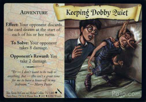 File:Keeping Dobby Quiet (Harry Potter Trading Card).jpg