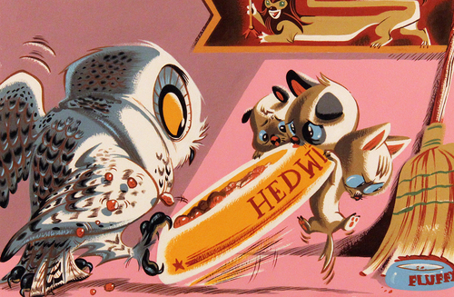 File:Size500 harrypotter beckydreisdect fluffyandhedwig detail11 40 Beautiful Harry Potter Art and Illustration Tributes.jpeg