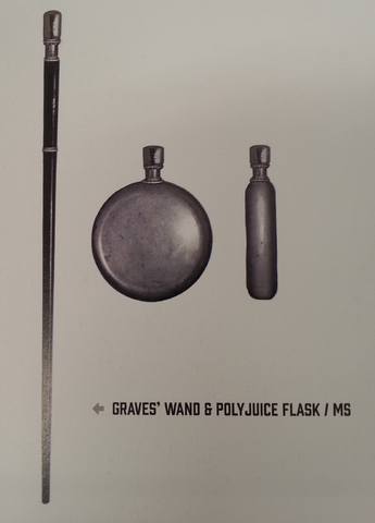 File:Percival Graves' Wand & Polyjuice flask with book text.png