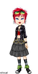 Lily goth doll