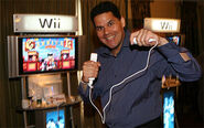 Reggie playing wii