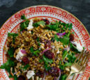Freekah Salad with Feta & Dried Cranberries