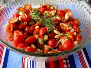 Chry tomato salad