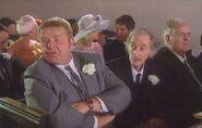 Vernon and Bernie Scripps attend Dennis Merton and Jenny Latimer's wedding